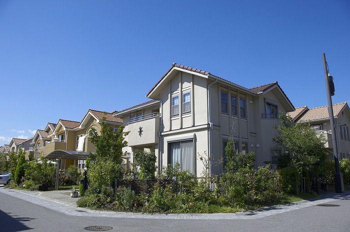 新興住宅地に新築住宅購入
