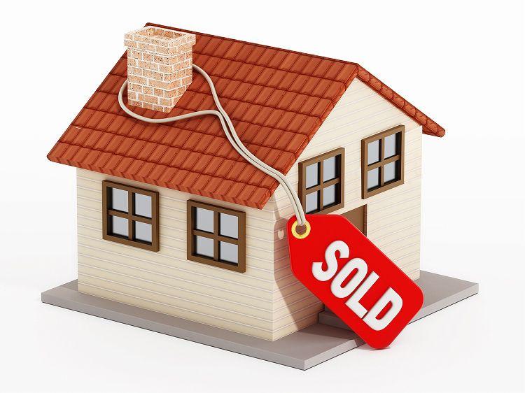 売出し中の家