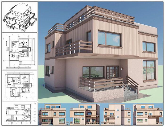 住宅ローンを組む住宅と図面